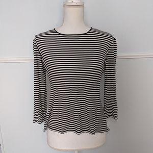 Max Mara black and white striped top EUC S